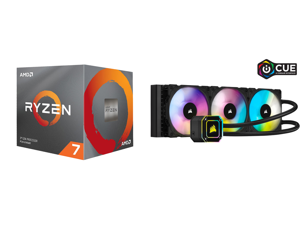 AMD RYZEN 7 3700X 8-Core 3.6 GHz (4.4 GHz Max Boost) Socket AM4 65W 100-100000071BOX Desktop Processor and CORSAIR iCUE H150i ELITE CAPELLIX Liquid CPU Cooler CW-9060048-WW