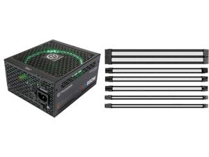 Thermaltake Smart Pro RGB 850W Smart Zero Fan SLI/CrossFire Ready Continuous Power ATX12V v2.4 / EPS v2.92 80 PLUS Bronze Certified Full Modular Power Supply PS-SPR-0850FPCBUS-R and Thermaltake AC-048-CN1NAN-A1 11.81 in. (30 cm) TtMod Sleev
