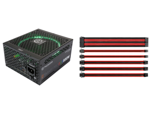 Thermaltake Smart Pro RGB 850W Smart Zero Fan SLI/CrossFire Ready Continuous Power ATX12V v2.4 / EPS v2.92 80 PLUS Bronze Certified Full Modular Power Supply PS-SPR-0850FPCBUS-R and Thermaltake AC-033-CN1NAN-A1 11.81 in. (All Cables) TtMod
