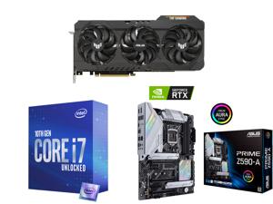 ASUS TUF Gaming GeForce RTX 3070 Ti 8GB GDDR6X PCI Express 4.0 x16 Video Card TUF-RTX3070TI-O8G-GAMING and Intel Core i7-10700K Comet Lake 8-Core 3.8 GHz LGA 1200 125W Desktop Processor w/ Intel UHD Graphics 630 and ASUS PRIME Z590-A LGA 12