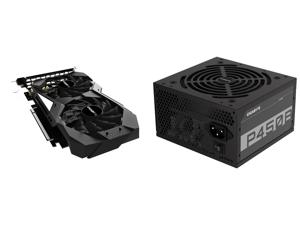 GIGABYTE GeForce GTX 1650 OC 4G Graphics Card 2 x WINDFORCE Fans 4GB 128-Bit GDDR5 GV-N1650OC-4GD Video Card and GIGABYTE GP-P450B 450W ATX 12V v2.31 80 PLUS BRONZE Certified Non-Modular Active PFC Power Supply