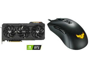 ASUS TUF Gaming GeForce RTX 3070 Ti Video Card TUF-RTX3070TI-O8G-GAMING and ASUS TUF Gaming M3 90MP01J0-B0UA00 Gray Wired Optical Gaming Mouse