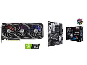 ASUS ROG Strix GeForce RTX 3070 Ti 8GB GDDR6X PCI Express 4.0 x16 Video Card ROG-STRIX-RTX3070TI-O8G-GAMING and ASUS PRIME B550-PLUS AM4 AMD B550 SATA 6Gb/s ATX AMD Motherboard