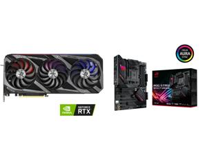 ASUS ROG Strix GeForce RTX 3070 Ti 8GB GDDR6X PCI Express 4.0 x16 Video Card ROG-STRIX-RTX3070TI-O8G-GAMING and ASUS ROG STRIX B550-F GAMING AM4 AMD B550 SATA 6Gb/s ATX AMD Motherboard