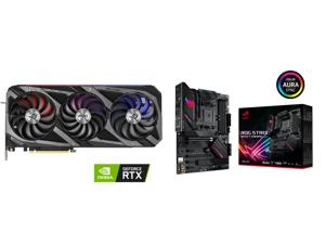 ASUS ROG Strix GeForce RTX 3070 Ti 8GB GDDR6X PCI Express 4.0 x16 Video Card ROG-STRIX-RTX3070TI-O8G-GAMING and ASUS ROG Strix B550-F Gaming (WiFi 6) AMD AM4 (3rd Gen Ryzen) ATX Gaming Motherboard (PCIe 4.0 2.5Gb LAN BIOS FlashBack HDMI 2.1
