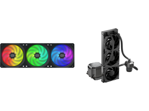 Cooler Master MasterFan SF360R ARGB 360mm Square Frame Fan and CoolerMaster MasterLiquid ML360 SUB-ZERO Thermoelectric Cooling (TEC) AIO CPU Liquid Cooler Powered by Intel Cryo Cooling Technology 2nd Generation Pump 360 Radiator for Intel L
