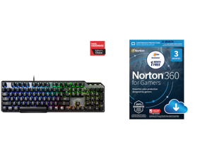 MSI Vigor GK50 Elite Kailh Blue Gaming Keyboard and NortonLifeLock Norton 360 for Gamers - Multi-layered protection for PCs - Includes Game Optimizer Gamer tag monitoring Secure VPN and PC Cloud Backup - 13 Months [Download]