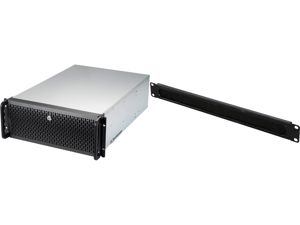 """Rosewill RSV-L4412U 4U Rackmount Server Chassis   Hot Swap Support   Carries up to 12 3.5"""" SATA I II III SAS bays   Includes 3 front 120mm fans 2 Rear 80mm fans   USB 3.0 USB 2.0   Lock and Key and Rosewill 1U High-Density Brush Cable Manag"""