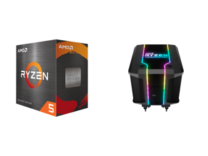 AMD Ryzen 5 5600X 3.7 GHz Socket AM4 100-100000065BOX Desktop Processor and Cooler Master AMD Wraith Ripper ThreadRipper TR4 High Performance CPU Air Cooler Addressable RGB Threadripper logo's display 7 Heat Pipes Dual Tower Heatsink Wraith