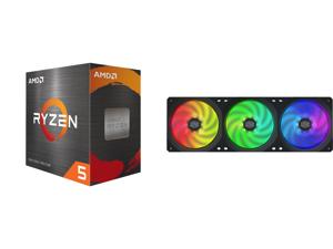 AMD Ryzen 5 5600X 3.7 GHz Socket AM4 100-100000065BOX Desktop Processor and Cooler Master MasterFan SF360R ARGB 360mm Square Frame Fan