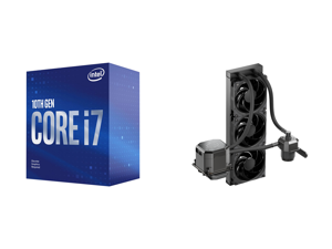 Intel Core i7-10700F 2.9 GHz LGA 1200 BX8070110700F Desktop Processor and CoolerMaster MasterLiquid ML360 SUB-ZERO Thermoelectric Cooling (TEC) AIO CPU Liquid Cooler Powered by Intel Cryo Cooling Technology 2nd Generation Pump 360 Radiator