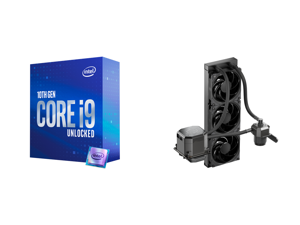 Intel Core i9-10850K 3.6 GHz LGA 1200 Desktop Processor - BX8070110850K and CoolerMaster MasterLiquid ML360 SUB-ZERO Thermoelectric Cooling (TEC) AIO CPU Liquid Cooler Powered by Intel Cryo Cooling Technology 2nd Generation Pump 360 Radiato