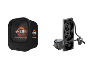 AMD Ryzen Threadripper 1900X 8-Core / 16 Threads 3.8 GHz Socket sTR4 180W YD190XA8AEWOF Desktop Processor and CoolerMaster MasterLiquid ML360 SUB-ZERO Thermoelectric Cooling (TEC) AIO CPU Liquid Cooler Powered by Intel Cryo Cooling Technolo