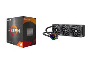 AMD Ryzen 9 5950X 3.4 GHz Socket AM4 100-100000059WOF Desktop Processor and Thermaltake TOUGHLIQUID 360 ARGB Motherboard Sync Edition AMD/Intel LGA1200 Ready All-in-One Liquid Cooling System 360mm High Efficiency Radiator CPU Cooler CL-W321