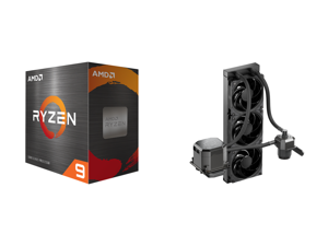 AMD Ryzen 9 5900X 3.7 GHz Socket AM4 100-100000061WOF Desktop Processor and CoolerMaster MasterLiquid ML360 SUB-ZERO Thermoelectric Cooling (TEC) AIO CPU Liquid Cooler Powered by Intel Cryo Cooling Technology 2nd Generation Pump 360 Radiato