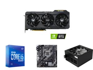ASUS TUF Gaming GeForce RTX 3060 12GB GDDR6 PCI Express 4.0 Video Card OC Edition TUF-RTX3060-O12G-GAMING and Intel Core i5-10600KF Comet Lake 6-Core 4.1 GHz LGA 1200 125W BX8070110600KF Desktop Processor and ASUS PRIME H410M-E LGA 1200 Int