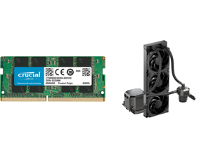 Crucial 8GB 260-Pin DDR4 SO-DIMM DDR4 2666 (PC4 21300) Laptop Memory Model CT8G4SFRA266 and CoolerMaster MasterLiquid ML360 SUB-ZERO Thermoelectric Cooling (TEC) AIO CPU Liquid Cooler Powered by Intel Cryo Cooling Technology 2nd Generation