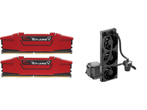 G.SKILL Ripjaws V Series 16GB (2 x 8GB) 288-Pin DDR4 SDRAM DDR4 3200 (PC4 25600) Desktop Memory Model F4-3200C16D-16GVRB and CoolerMaster MasterLiquid ML360 SUB-ZERO Thermoelectric Cooling (TEC) AIO CPU Liquid Cooler Powered by Intel Cryo C