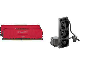 Crucial Ballistix 3200 MHz DDR4 DRAM Desktop Gaming Memory Kit 16GB (8GBx2) CL16 BL2K8G32C16U4R (RED) and CoolerMaster MasterLiquid ML360 SUB-ZERO Thermoelectric Cooling (TEC) AIO CPU Liquid Cooler Powered by Intel Cryo Cooling Technology 2