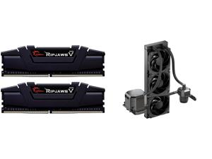 G.SKILL Ripjaws V Series 16GB (2 x 8GB) 288-Pin DDR4 SDRAM DDR4 3600 (PC4 28800) Intel XMP 2.0 Desktop Memory Model F4-3600C16D-16GVKC and CoolerMaster MasterLiquid ML360 SUB-ZERO Thermoelectric Cooling (TEC) AIO CPU Liquid Cooler Powered b