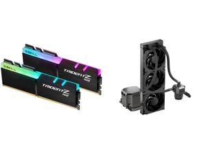 G.SKILL TridentZ RGB Series 32GB (2 x 16GB) 288-Pin DDR4 SDRAM DDR4 3200 (PC4 25600) Intel XMP 2.0 Desktop Memory Model F4-3200C16D-32GTZR and CoolerMaster MasterLiquid ML360 SUB-ZERO Thermoelectric Cooling (TEC) AIO CPU Liquid Cooler Power