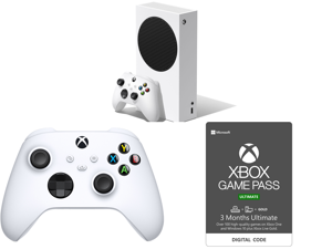 Microsoft Xbox Series S and Xbox Core Controller - Robot White and Xbox Game Pass Ultimate: 3 Month Membership US [Digital Code]