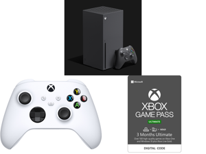 Microsoft Xbox Series X and Xbox Core Controller - Robot White and Xbox Game Pass Ultimate: 3 Month Membership US [Digital Code]