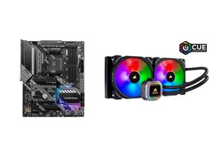 MSI MAG B550 TOMAHAWK AM4 ATX AMD Motherboard and CORSAIR Hydro Series H115i RGB PLATINUM 280mm 2 x ML PRO 140mm RGB PWM Fans RGB Lighting Fan Control w/ Software Liquid CPU Cooler. CW-9060038-WW. Support: Intel 1200 2066 AMD AM4 TR4.