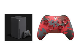 Microsoft Xbox Series X and Xbox Wireless Controller – Daystrike Camo Red Special Edition