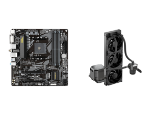 GIGABYTE B550M DS3H AC AM4 Micro ATX AMD Motherboard and CoolerMaster MasterLiquid ML360 SUB-ZERO Thermoelectric Cooling (TEC) AIO CPU Liquid Cooler Powered by Intel Cryo Cooling Technology 2nd Generation Pump 360 Radiator for Intel LGA 120