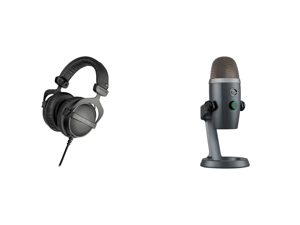 Beyerdynamic DT 770 Pro 32 Ohm (483664) Studio Reference Headphones (Closed) and Blue Microphones Yeti Nano Premium USB Mic for Recording and Streaming in Shadow Grey