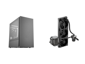 Cooler Master Silencio S600 ATX Mid-Tower w/ Sound-Dampening Material Sound-Dampened Steel Side Panel Reversible Front Panel SD Card Reader and 2x 120mm PWM Silencio FP Fans and CoolerMaster MasterLiquid ML360 SUB-ZERO Thermoelectric Coolin
