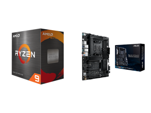 AMD Ryzen 9 5950X 16-Core 3.4 GHz Socket AM4 105W 100-100000059WOF Desktop Processor and ASUS AMD AM4 PRO WS X570-ACE ATX Workstation Motherboard with 3 PCIe 4.0 x16 Realtek and Intel Gigabit LAN DDR4 ECC Memory Support Dual M.2 U.2 and ASU