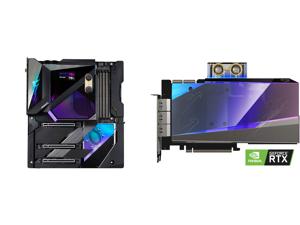 GIGABYTE Z590 AORUS XTREME WATERFORCE (Z590 AORUS XTREME WB) LGA 1200 Intel Z590 Extended ATX Motherboard with Triple M.2 PCIe 4.0 Intel WIFI 6E 2.5GbE LAN AQUANTIA 10GbE BASE-T LAN and GIGABYTE AORUS GeForce RTX 3090 XTREME WATERFORCE WB 2