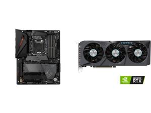 GIGABYTE Z590 AORUS PRO AX LGA 1200 Intel Z590 ATX Motherboard with 4 x M.2 PCIe 4.0 USB 3.2 Gen2X2 Type-C Intel WIFI 6 2.5GbE LAN and GIGABYTE GeForce RTX 3070 EAGLE OC 8GB Video Card GV-N3070EAGLE OC-8GD