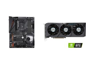 GIGABYTE X570 AORUS PRO WIFI AMD Ryzen 3000 PCIe 4.0 SATA 6Gb/s USB 3.2 AMD X570 ATX Motherboard and GIGABYTE Eagle GeForce RTX 3070 8GB GDDR6 PCI Express 4.0 x16 ATX Video Card GV-N3070EAGLE-8GD (rev. 2.0)