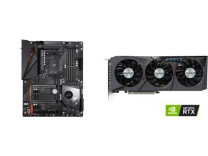 GIGABYTE X570 AORUS PRO WIFI AMD Ryzen 3000 PCIe 4.0 SATA 6Gb/s USB 3.2 AMD X570 ATX Motherboard and GIGABYTE GeForce RTX 3070 EAGLE OC 8GB Video Card GV-N3070EAGLE OC-8GD