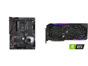 GIGABYTE X570 AORUS PRO WIFI AMD Ryzen 3000 PCIe 4.0 SATA 6Gb/s USB 3.2 AMD X570 ATX Motherboard and GIGABYTE AORUS GeForce RTX 3070 Ti 8GB GDDR6X PCI Express 4.0 x16 ATX Video Card GV-N307TAORUS M-8GD