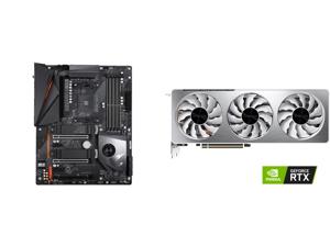 GIGABYTE X570 AORUS PRO WIFI AMD Ryzen 3000 PCIe 4.0 SATA 6Gb/s USB 3.2 AMD X570 ATX Motherboard and GIGABYTE Vision GeForce RTX 3070 8GB GDDR6 PCI Express 4.0 x16 ATX Video Card GV-N3070VISION OC-8GD (rev. 2.0)