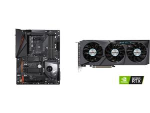 GIGABYTE X570 AORUS PRO WIFI AMD Ryzen 3000 PCIe 4.0 SATA 6Gb/s USB 3.2 AMD X570 ATX Motherboard and GIGABYTE Eagle GeForce RTX 3070 8GB GDDR6 PCI Express 4.0 x16 ATX Video Card GV-N3070EAGLE OC-8GD (rev. 2.0)