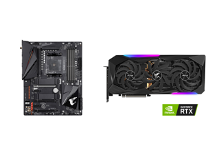 GIGABYTE B550 AORUS PRO AC AM4 AMD B550 ATX Motherboard with Dual M.2 SATA 6Gb/s USB 3.2 Gen 2 Intel 802.11ac 2.5 GbE LAN PCIe 4.0 and GIGABYTE AORUS GeForce RTX 3070 Ti 8GB GDDR6X PCI Express 4.0 x16 ATX Video Card GV-N307TAORUS M-8GD