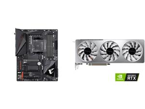 GIGABYTE B550 AORUS PRO AC AM4 AMD B550 ATX Motherboard with Dual M.2 SATA 6Gb/s USB 3.2 Gen 2 Intel 802.11ac 2.5 GbE LAN PCIe 4.0 and GIGABYTE Vision GeForce RTX 3070 8GB GDDR6 PCI Express 4.0 x16 ATX Video Card GV-N3070VISION OC-8GD (rev.