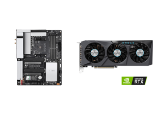 GIGABYTE B550 VISION D-P AM4 AMD B550 ATX Motherboard with Dual M.2 SATA 6Gb/s USB 3.2 Type-C with Thunderbolt 3 WIFI 6 Dual 2.5GbE LAN PCIe 4.0 and GIGABYTE Eagle GeForce RTX 3070 8GB GDDR6 PCI Express 4.0 x16 ATX Video Card GV-N3070EAGLE