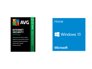 AVG Internet Security 2021 5 Devices 1 Year - Download and Windows 10 Home 32-bit/64-bit - OEM - (Product Key Code Email Delivery)