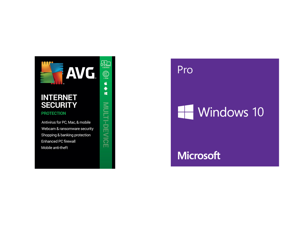 AVG Internet Security 2021 5 Devices 1 Year - Download and Windows 10 Pro 32-bit/64-bit - (Product Key Code Email Delivery)