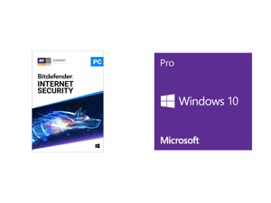 Bitdefender Internet Security 2021 - 1 Year / 1PC - Download and Windows 10 Pro 32-bit/64-bit - (Product Key Code Email Delivery)