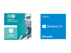 ESET NOD32 Antivirus 1 Year 1 Device and Windows 10 Home 32-bit/64-bit - OEM - (Product Key Code Email Delivery)