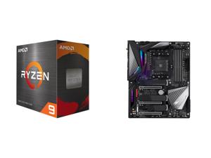 AMD Ryzen 9 5950X 16-Core 3.4 GHz Socket AM4 105W 100-100000059WOF Desktop Processor and GIGABYTE X570 AORUS MASTER (rev. 1.0) AMD Ryzen 3000 PCIe 4.0 SATA 6Gb/s USB 3.2 AMD X570 ATX Motherboard