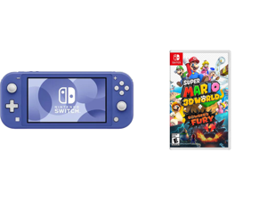 Nintendo Switch Lite - Blue and Super Mario 3D World-Bowser's Fury - Nintendo Switch