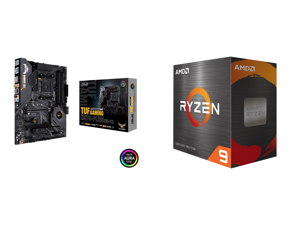 ASUS AM4 TUF Gaming X570-Plus (Wi-Fi) ATX Motherboard with PCIe 4.0 Dual M.2 12+2 with Dr. MOS Power Stage HDMI DP SATA 6Gb/s USB 3.2 Gen 2 and Aura Sync RGB Lighting and AMD Ryzen 9 5900X 3.7 GHz Socket AM4 100-100000061WOF Desktop Process